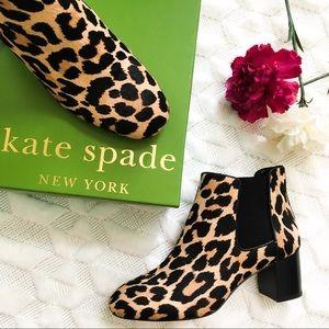 Kate Spade Leah Leopard Calf Hair Booties